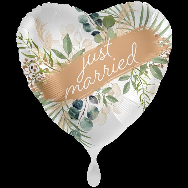 "Picture of Wedding Natural Frame Folienballon XXL 28"""