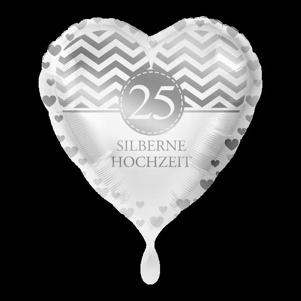 """Picture of Silberne Hochzeit 25 Jahre Folienballon 17"""""""