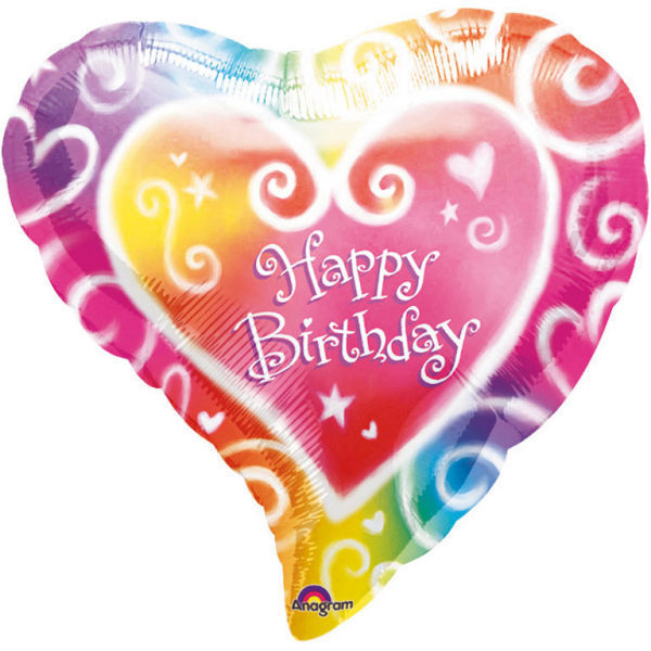 "Picture of Watercolour Birthday Folienballon 17"""
