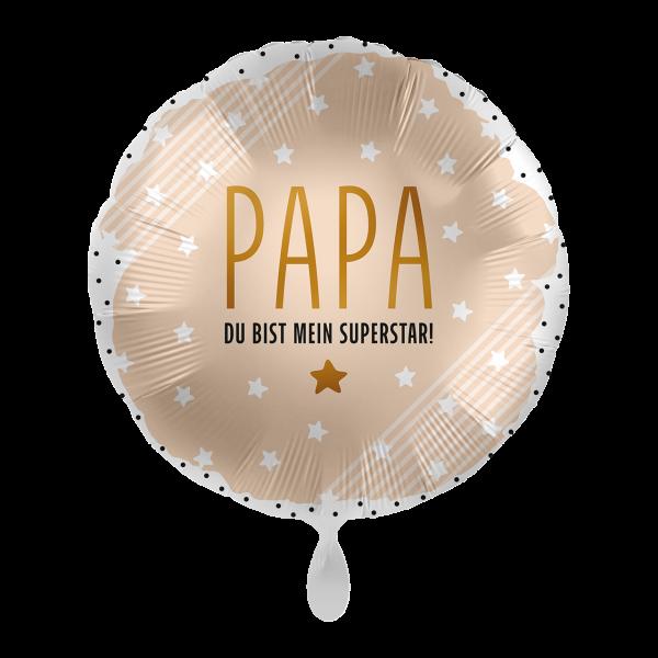 """Picture of Papa mein Superstar Folienballon 17"""""""
