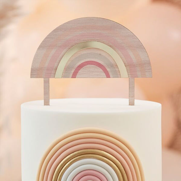 Picture of Regenbogen Cake Topper aus Holz