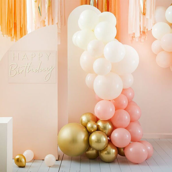 Picture of Peach and Gold Ballongirlanden Set