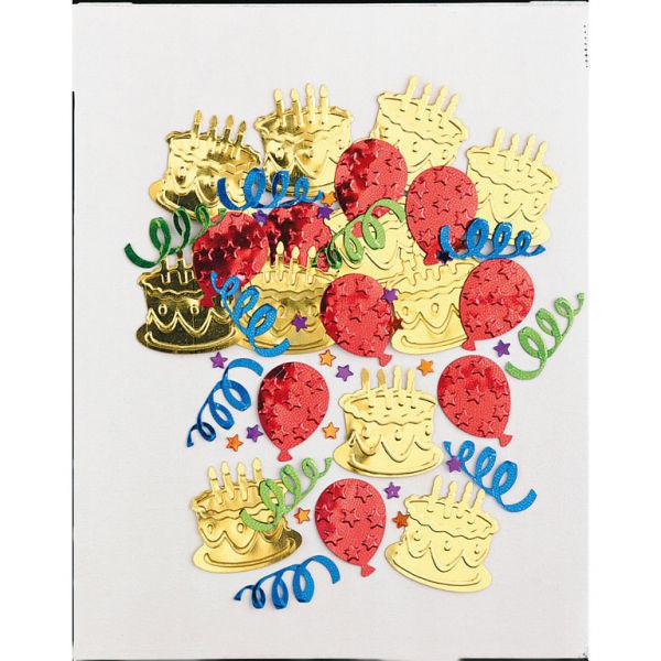 Picture of Konfetti Kuchen-Party mehrfarbig Folie 14 g