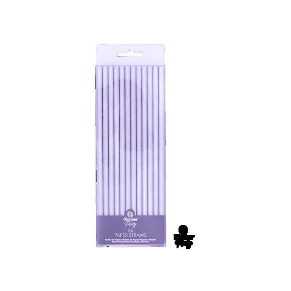 Picture of 24 Papierstrohhalme Iridescent 19cm