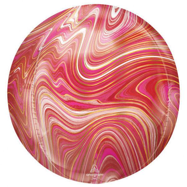 Picture of Orbz Marblez Rot & Pink Folienballon