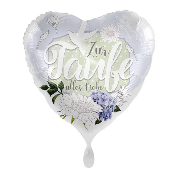 Picture of Taufe Blüten Folienballon