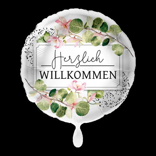 Picture of Herzlich Willkommen Greenery - Folienballon